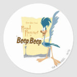 ROAD RUNNER™ Beep, Beep Round Sticker