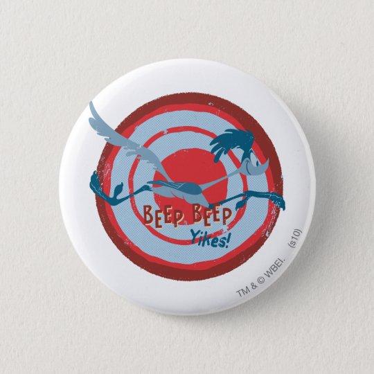 ROAD RUNNER™ Beep Beep Yikes! 6 Cm Round Badge