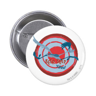 ROAD RUNNER™ Beep Beep Yikes! 6 Cm Round Badge