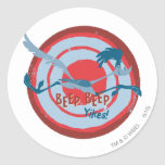 ROAD RUNNER™ Beep Beep Yikes! Round Stickers