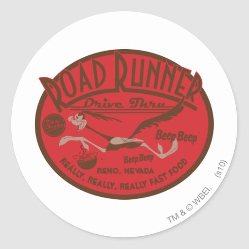 ROAD RUNNER™ Drive Thru 2 Classic Round Sticker