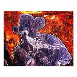 Road Runner Petroglyph Art Photo