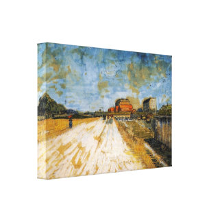 Road Running Beside the Paris Rampart by van Gogh Gallery Wrapped Canvas