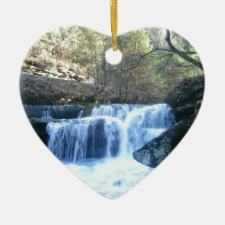 Road Side Waterfall Ceramic Heart Decoration