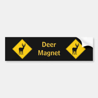 Road Sign- Deer Bumper Sticker