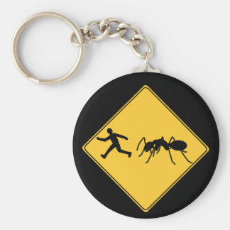 Road Sign- Giant Ant Basic Round Button Key Ring