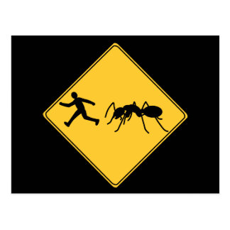 Road Sign- Giant Ant Postcard