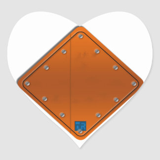 Road Sign Heart Sticker