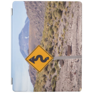 Road sign in Atacama desert iPad Cover