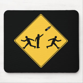 Road Sign- Meteor Mouse Pad