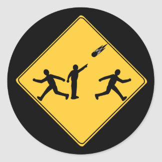 Road Sign- Meteor Stickers