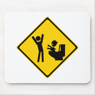 Road Sign Poop Goblin 1 Mouse Pad