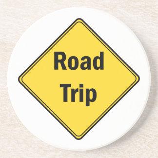Road Sign- Road Trip Beverage Coaster