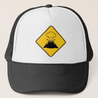 Road Sign- Volcano Trucker Hat