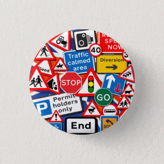Road Signs 3 Cm Round Badge