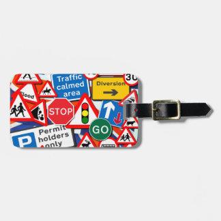 Road Signs Bag Tag