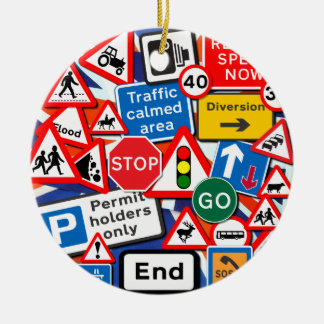 Road Signs Christmas Ornament