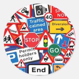 Road Signs Round Sticker