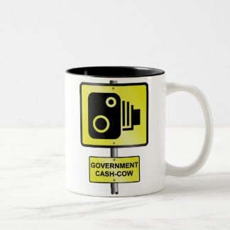 Road speed camera Two-Tone coffee mug