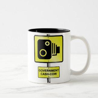 Road speed camera Two-Tone mug
