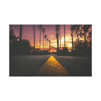 Road | Sunset | Sunrise Canvas Print