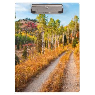 Road Through Autumn Colors Clipboard