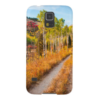 Road Through Autumn Colors Galaxy S5 Cases