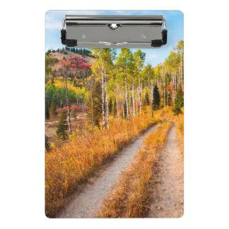 Road Through Autumn Colors Mini Clipboard
