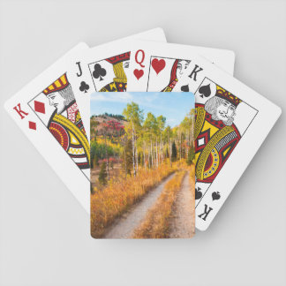 Road Through Autumn Colors Playing Cards