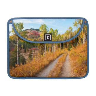 Road Through Autumn Colors Sleeve For MacBooks