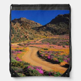 Road Through Flowers, Geogap Nature Reserve Drawstring Bag