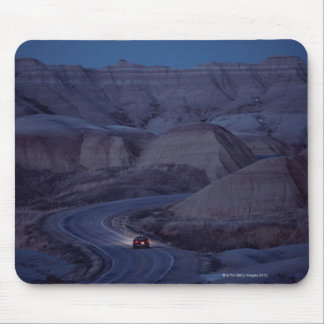 Road through Mountain Range Mouse Mat