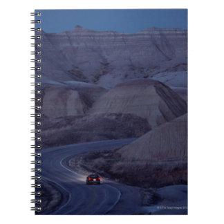 Road through Mountain Range Notebook