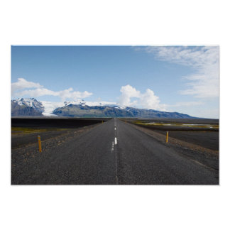 Road to an Icelandic glacier Poster