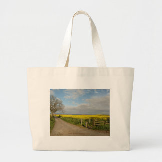 Road to Beach at Alnmouth Canvas Bags