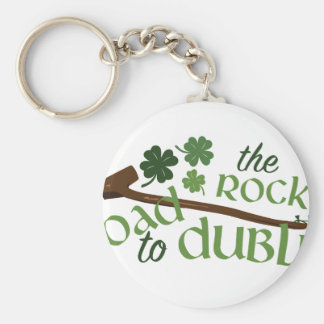 Road To Dublin Basic Round Button Key Ring