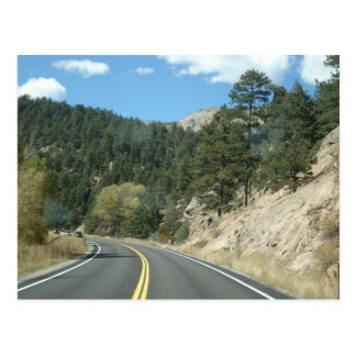 Road to Estes Park, CO Postcard