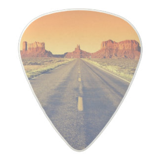 Road To Monument Valley At Sunset Acetal Guitar Pick