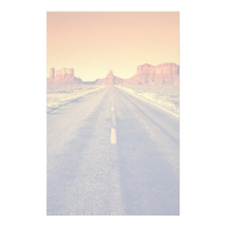 Road To Monument Valley At Sunset Custom Stationery