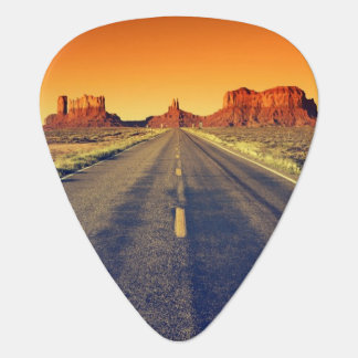Road To Monument Valley At Sunset Guitar Pick