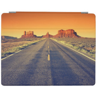 Road To Monument Valley At Sunset iPad Cover