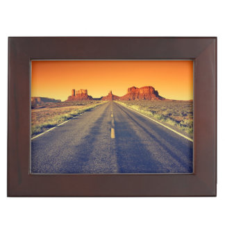 Road To Monument Valley At Sunset Keepsake Boxes