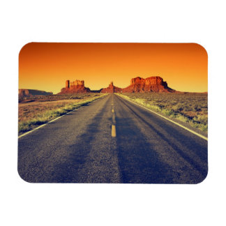 Road To Monument Valley At Sunset Magnet