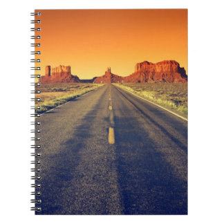 Road To Monument Valley At Sunset Spiral Notebook