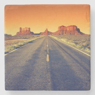 Road To Monument Valley At Sunset Stone Coaster