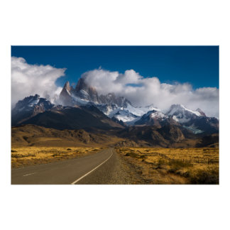 Road To Mount Fitzroy, Patagonia Poster