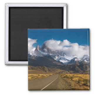 Road To Mount Fitzroy, Patagonia Square Magnet
