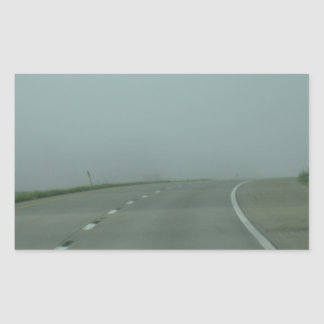 Road to no where rectangular sticker