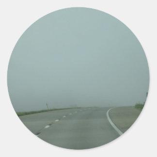 Road to no where round sticker