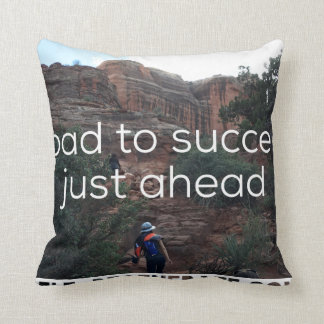 Road to Success Pillow Throw Cushion